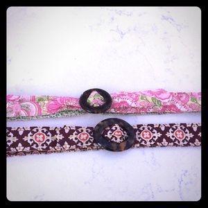 Pair of Vera Bradley cloth belts